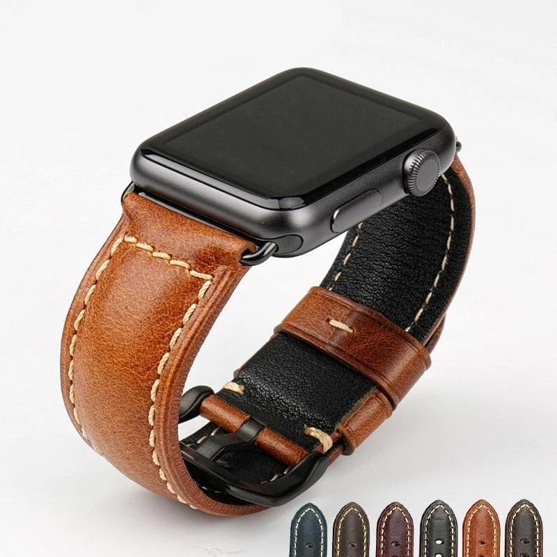 Genuine leather watch strap for apple watch - PhonesFashions