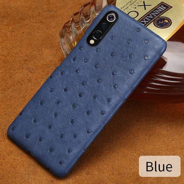 Genuine Ostrich Leather Case For Xiaomi - PhonesFashions