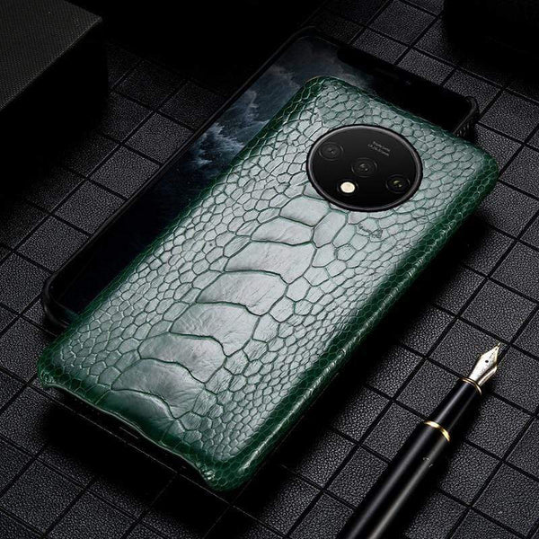 Genuine Ostrich Leather Handmade case for Oneplus - PHONES FASHIONS