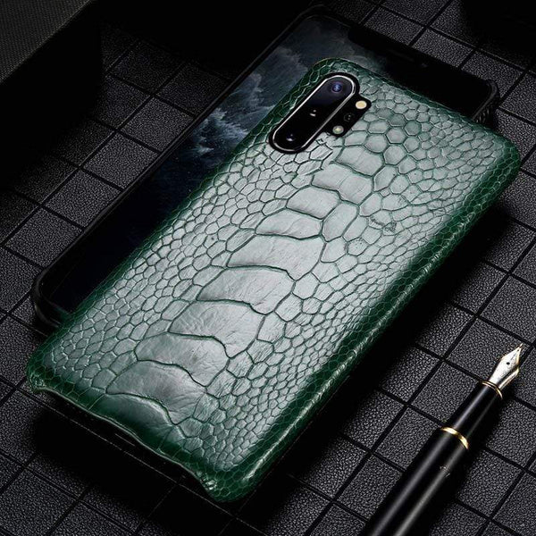 Genuine Ostrich Leather Handmade Case for Samsung - PHONES FASHIONS