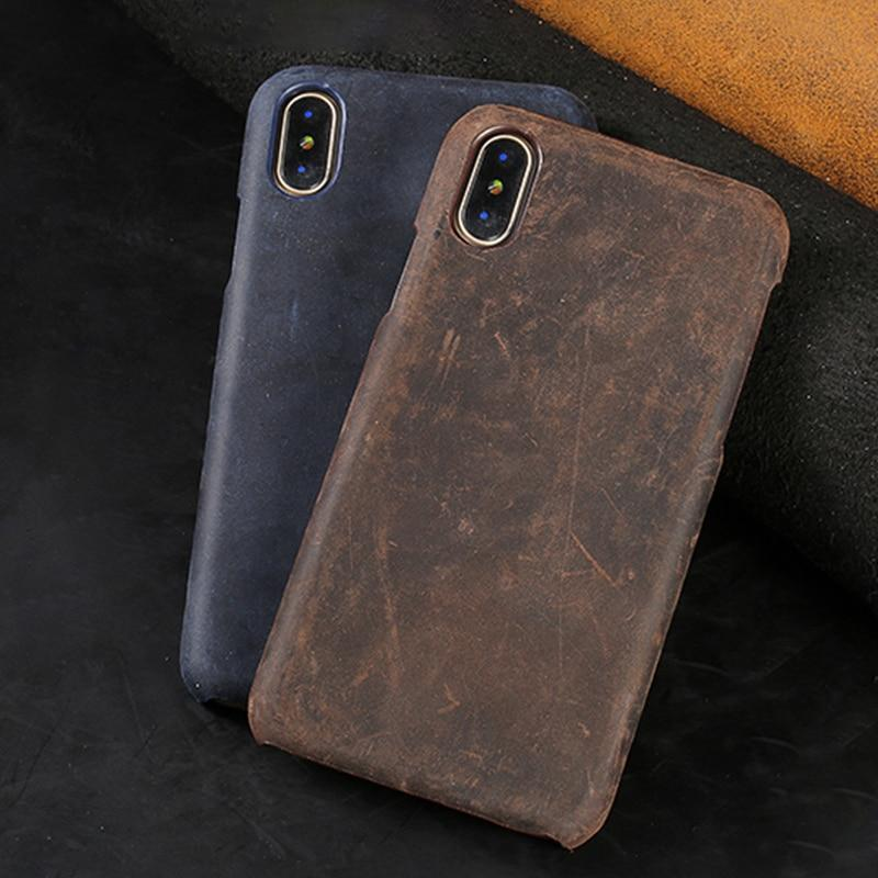Genuine PULL-UP Leather case for iPhone - PhonesFashions