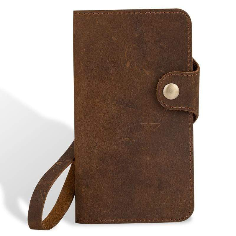 Genuine PULL-UP Leather Flip Wallet case for Xiaomi - PhonesFashions