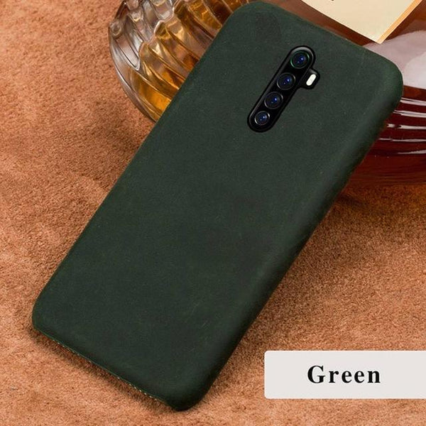 Genuine PULL-UP Leather Retro Case for Realme - PhonesFashions