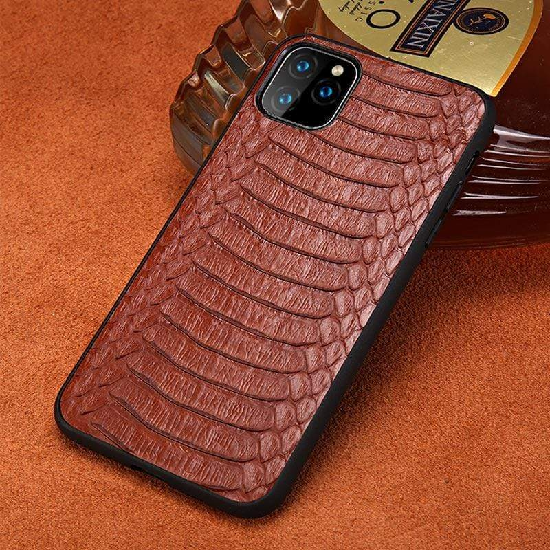Genuine Python Leather Case For iPhone - PhonesFashions