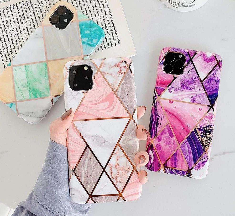 Geometric Marble Phone Cases For iPhone - PhonesFashions