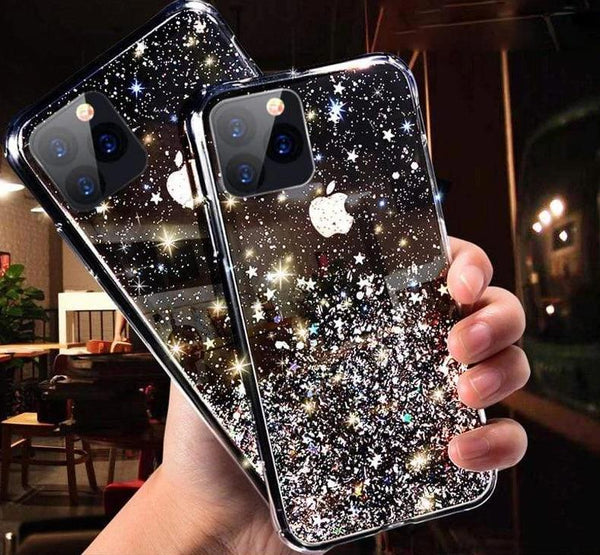 Glitter Soft Silicon Transparent Phone Case For iPhone - PhonesFashions