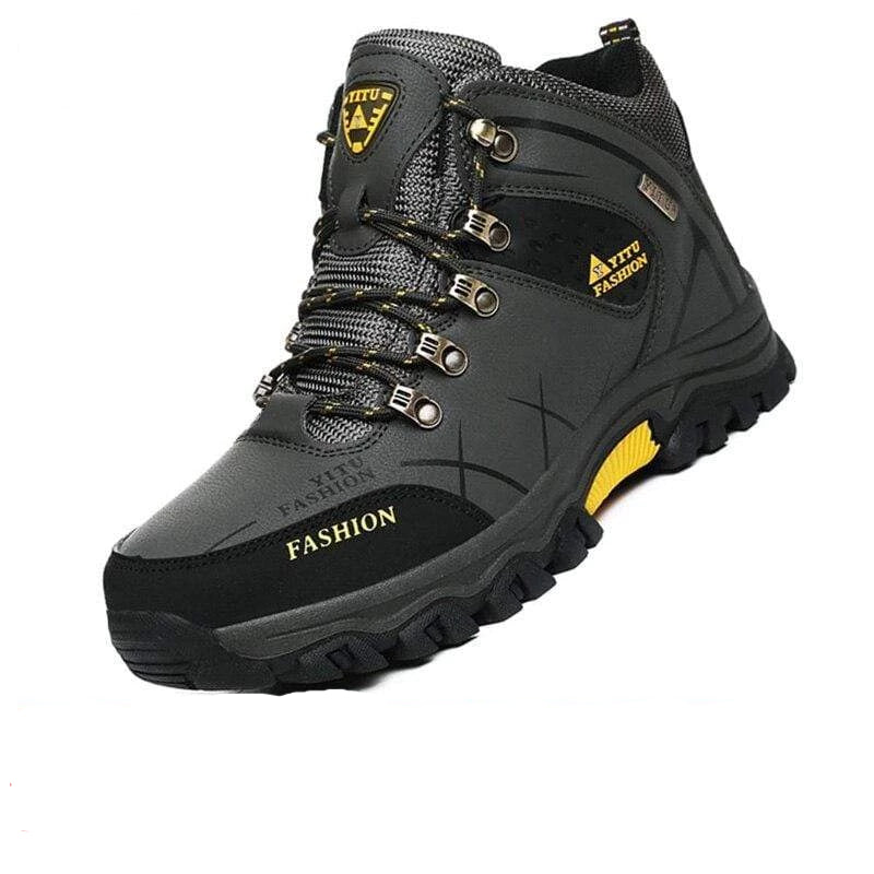 Waterproof Leather Winter Boots - PHONES FASHIONS