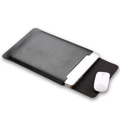 Leather Bag with Mouse Pad Pouch for Macbook Air - PhonesFashions