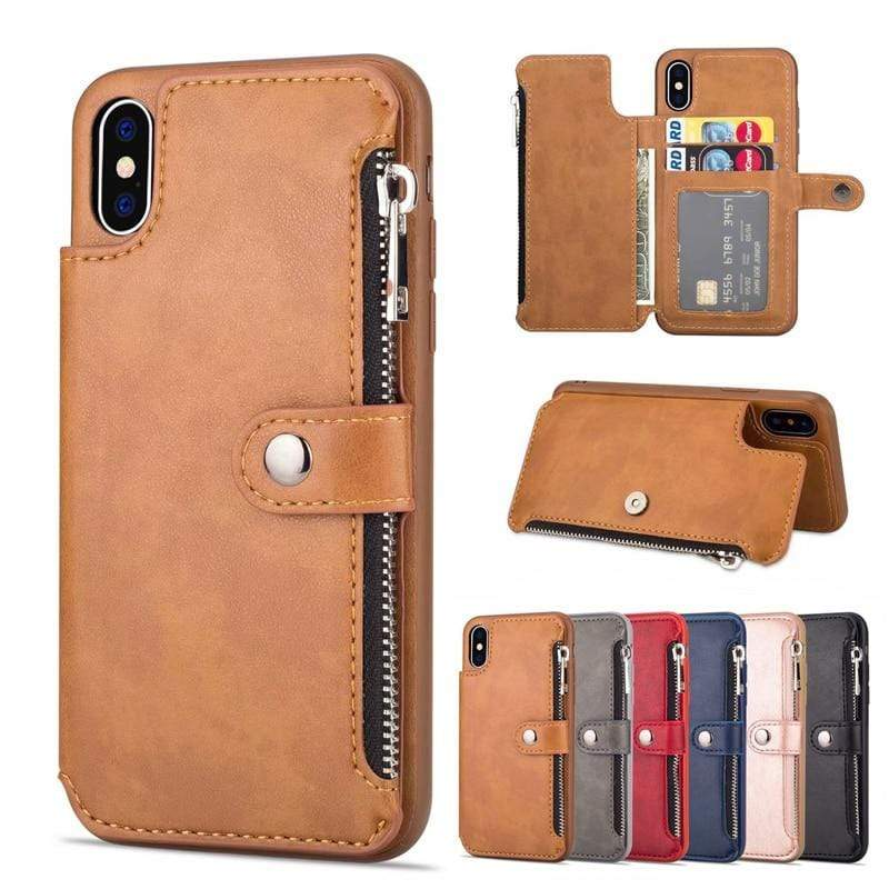 Leather Card Holders & iPhone Case wallet - PHONES FASHIONS