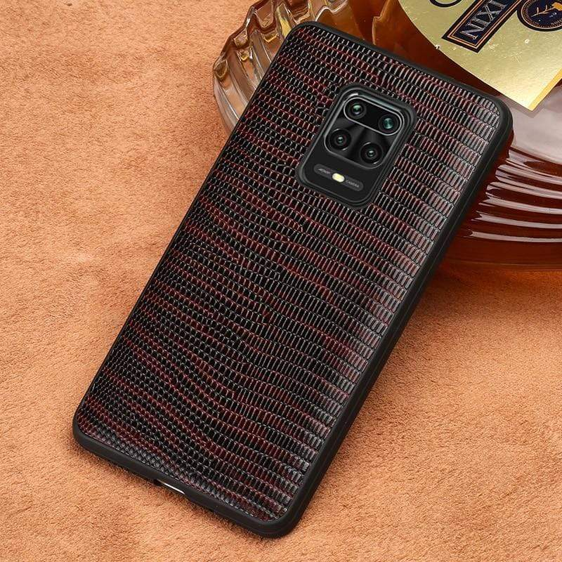 Leather Phone Case for Xiaomi Redmi Note 9 Pro Note 9S 8T Note 8 Pro 7 K30 Lizard Grain Back Cover For Mi 10 Pro 9 9T Pro A3 8 - PhonesFashions