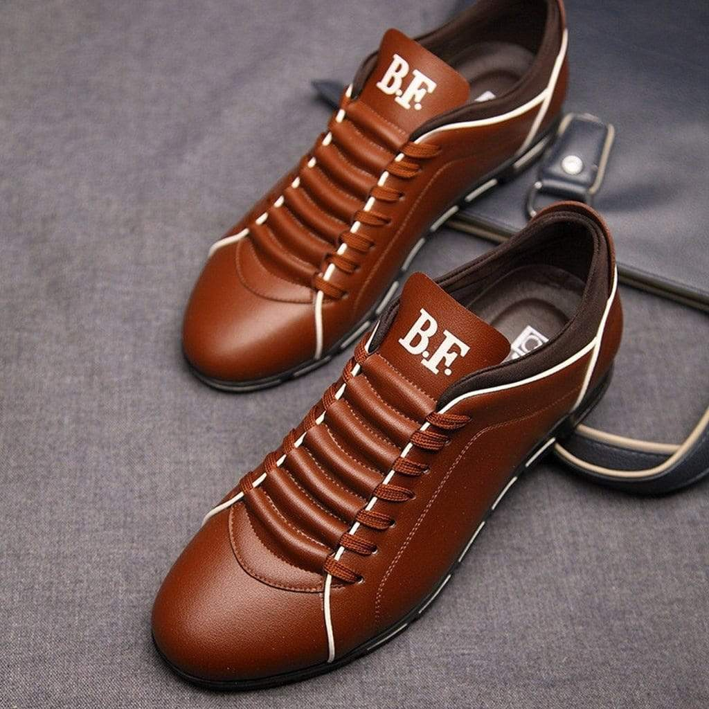 Leather Sport Casual sneakers - PhonesFashions