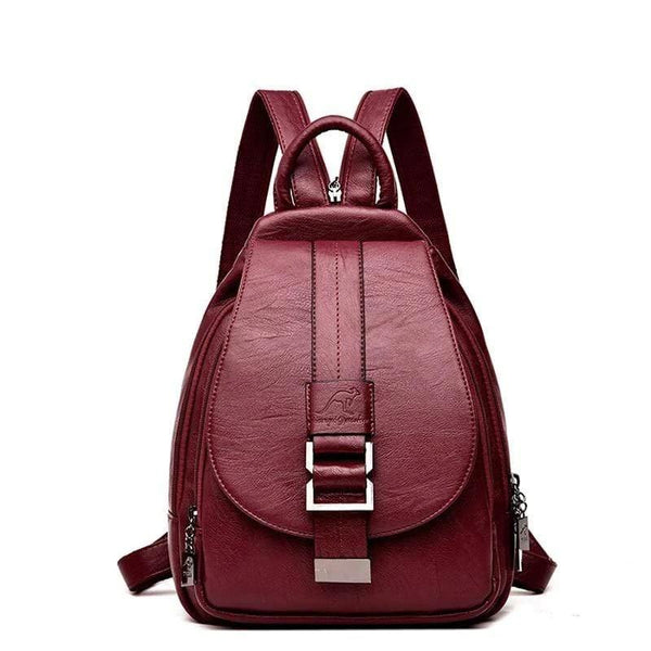 Leather Travel Backpacks for Women - PhonesFashions