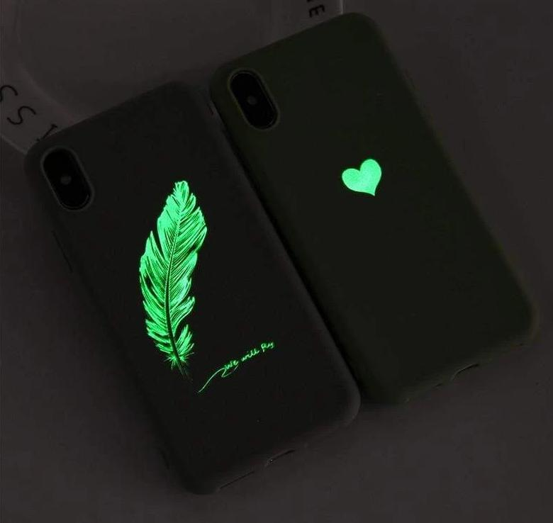 Luminous Couples Love Heart Phone Cases For iPhone - PhonesFashions