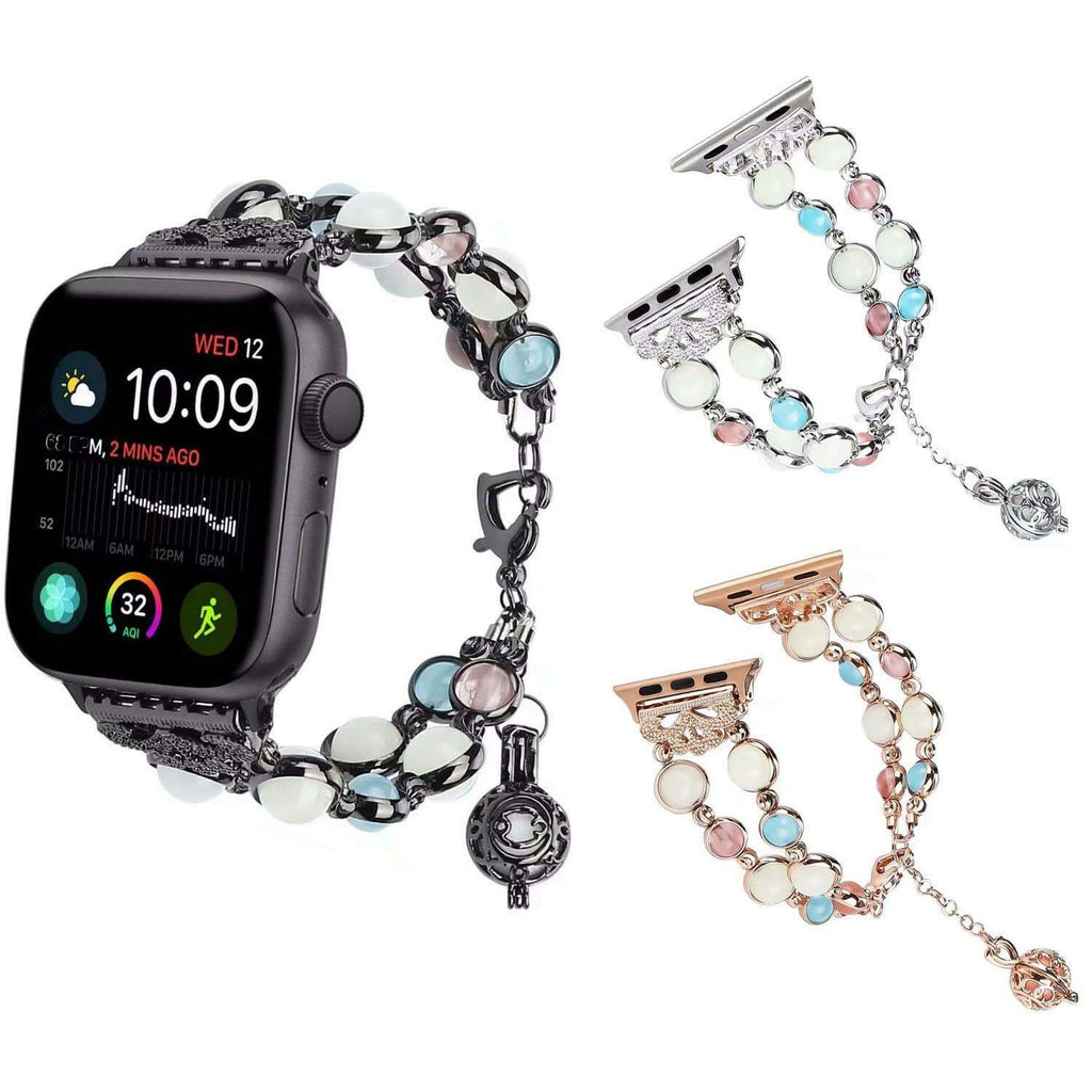 Luminous Pearl Bracelet for Apple Watch - PHONES FASHIONS