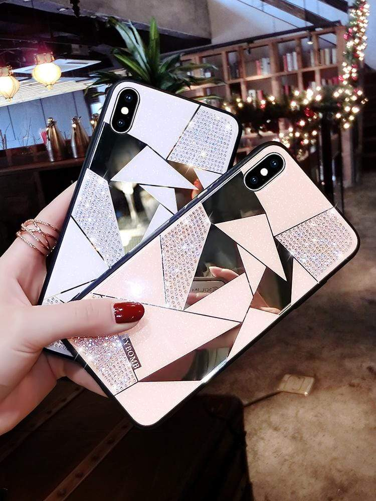 Luxury Creative Mirror Rhombus Phone Case For iPhone - PhonesFashions