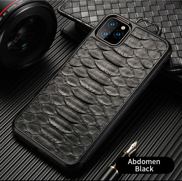 Luxury Genuine Python Leather case For iPhone - PhonesFashions