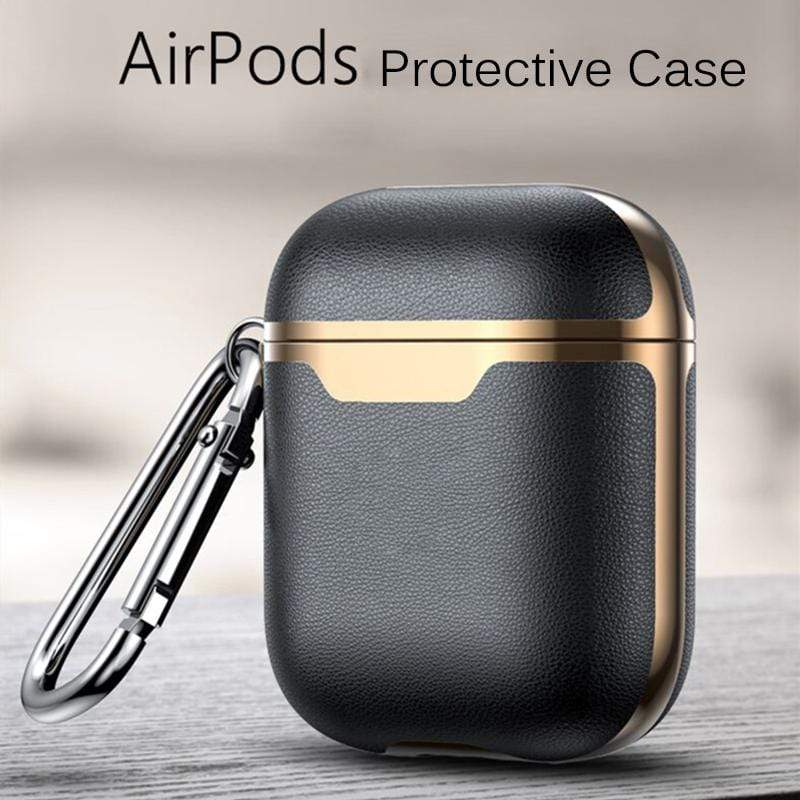 Luxury Leather Case For AirPods - PHONES FASHIONS