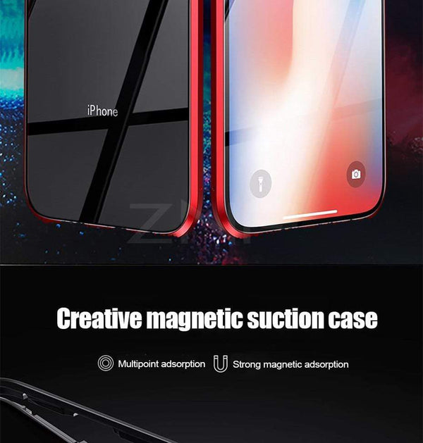 Magnetic Adsorption Metal Phone Case For iPhone - PhonesFashions