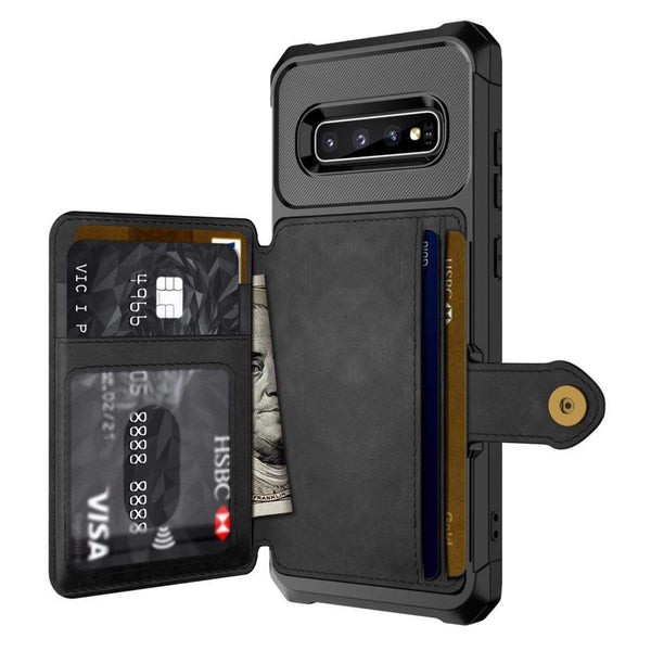 Card Slots Leather Case For Samsung - PHONES FASHIONS