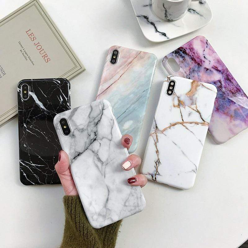 Marble pattern Back Cover For iPhone - PhonesFashions