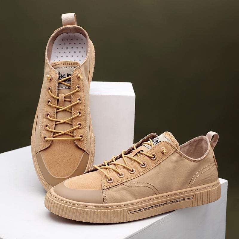 Men's Casual Lace Up Flat Sneakers - PHONES FASHIONS