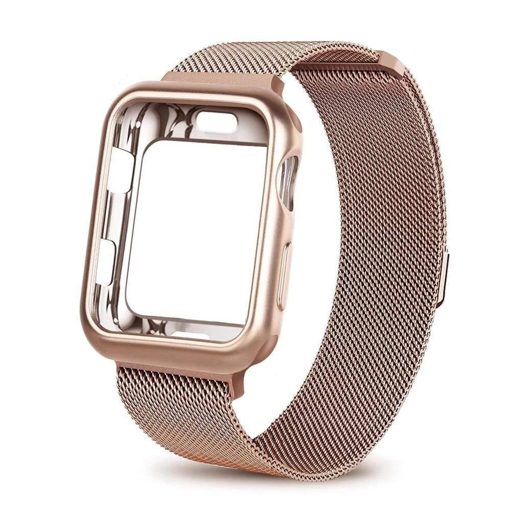 Milanese Loop Metal Case+strap for Apple Watch - PhonesFashions