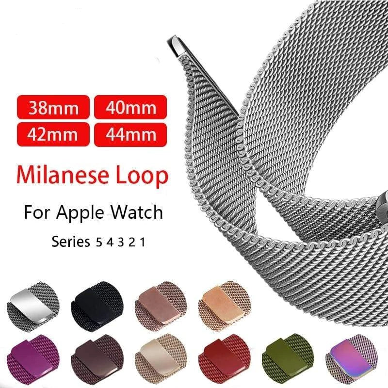Milanese Loop strap For Apple Watch - PHONES FASHIONS