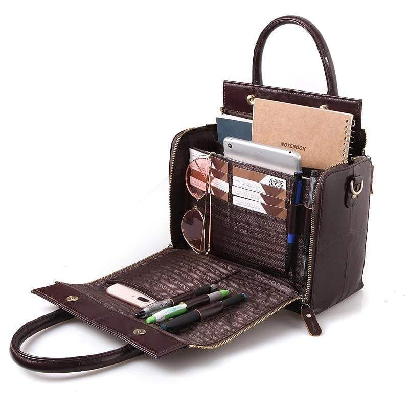 Multifunction Genuine Leather Soft Handbag - PHONES FASHIONS