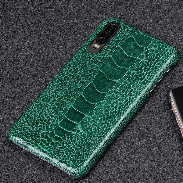 Natural Ostrich Leather Phon Case For Huawei - PHONES FASHIONS
