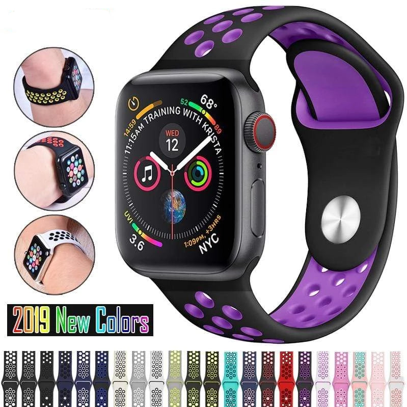 Silicone Sports Band for Apple Watch - PHONES FASHIONS