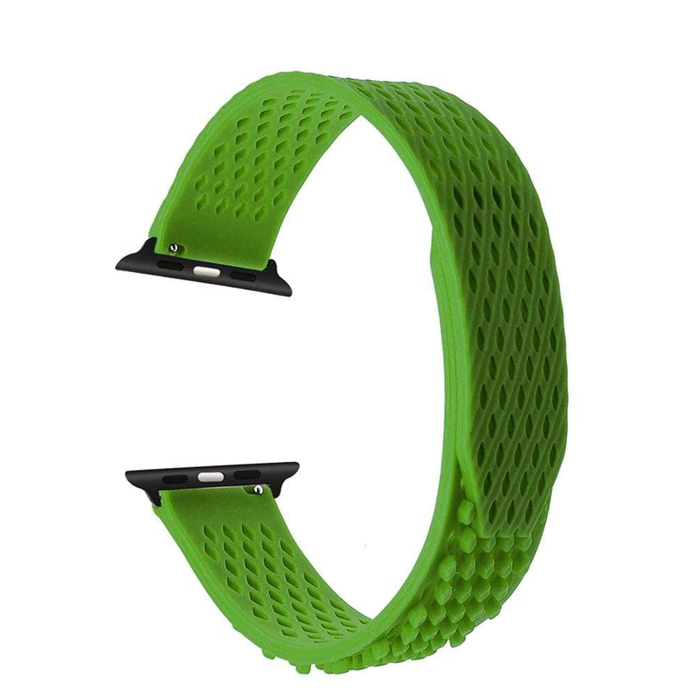 No Buckle Silicone Rubber Watchband For Apple watch - PHONES FASHIONS