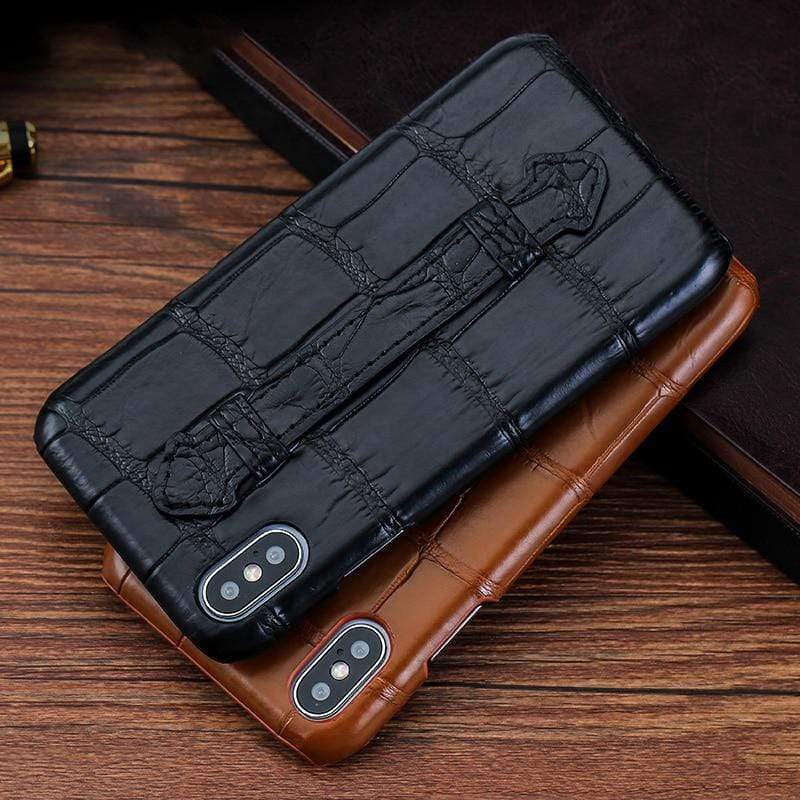 Original Crocodile Leather case For iPhone - PhonesFashions