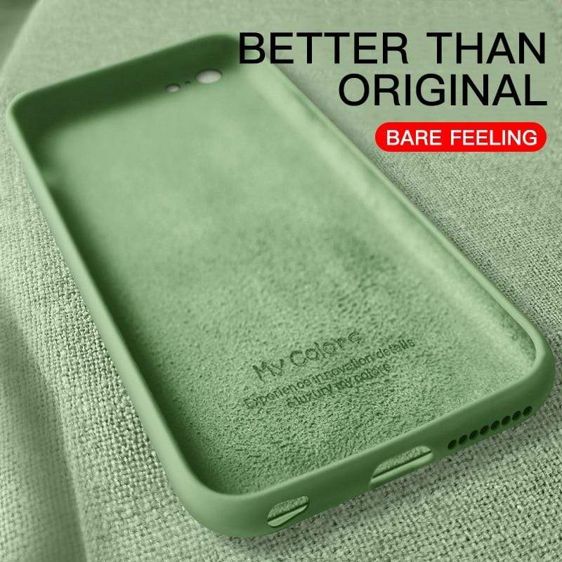 Original Liquid Silicone Thin & Soft iPhone Case - PHONES FASHIONS