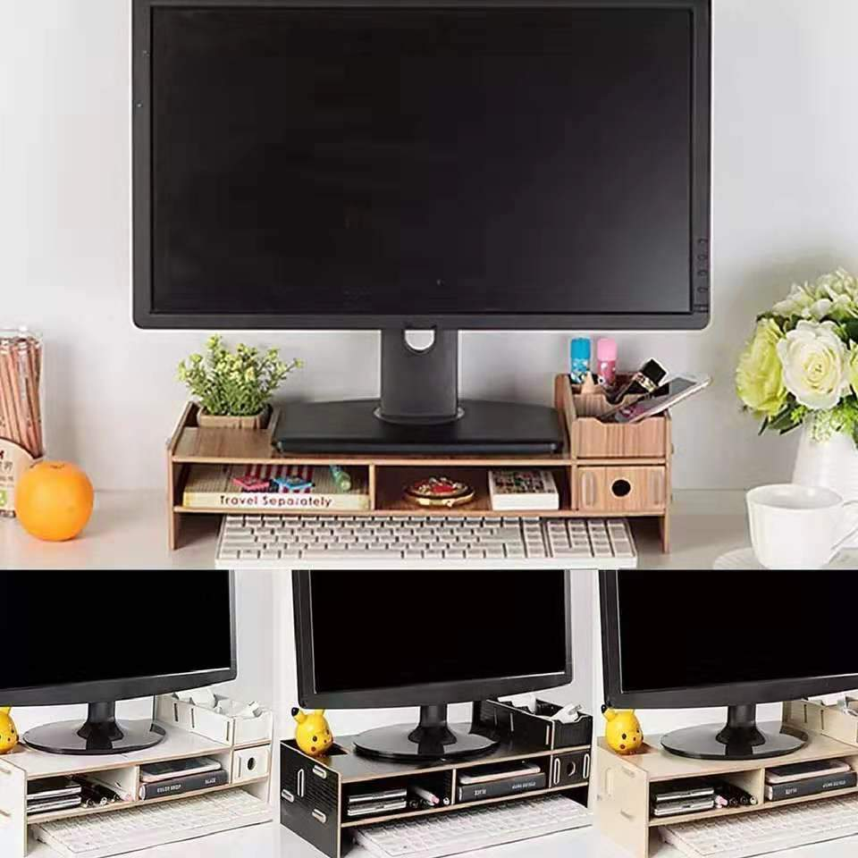 Plinth Strong Wood Shelf for Desktop Monitor & Notebook TV - PhonesFashions