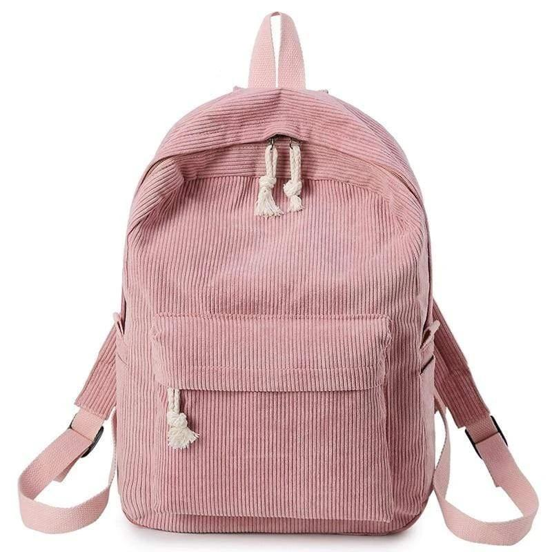 Preppy Style Soft Fabric Backpack for Female - PhonesFashions