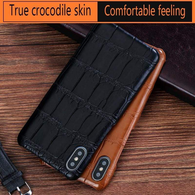 Real Crocodile Leather case for iPhone - PhonesFashions