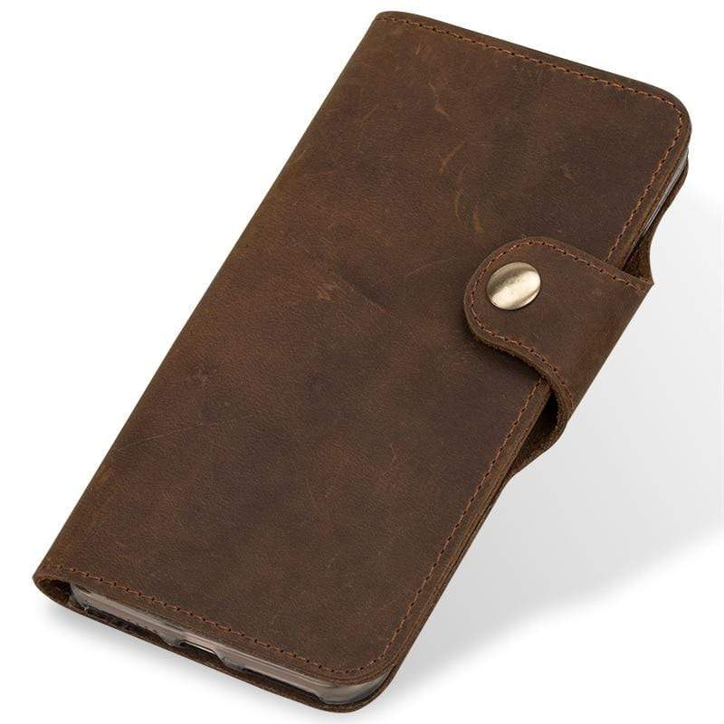 Retro Leather Flip Case For HUAWEI - PhonesFashions