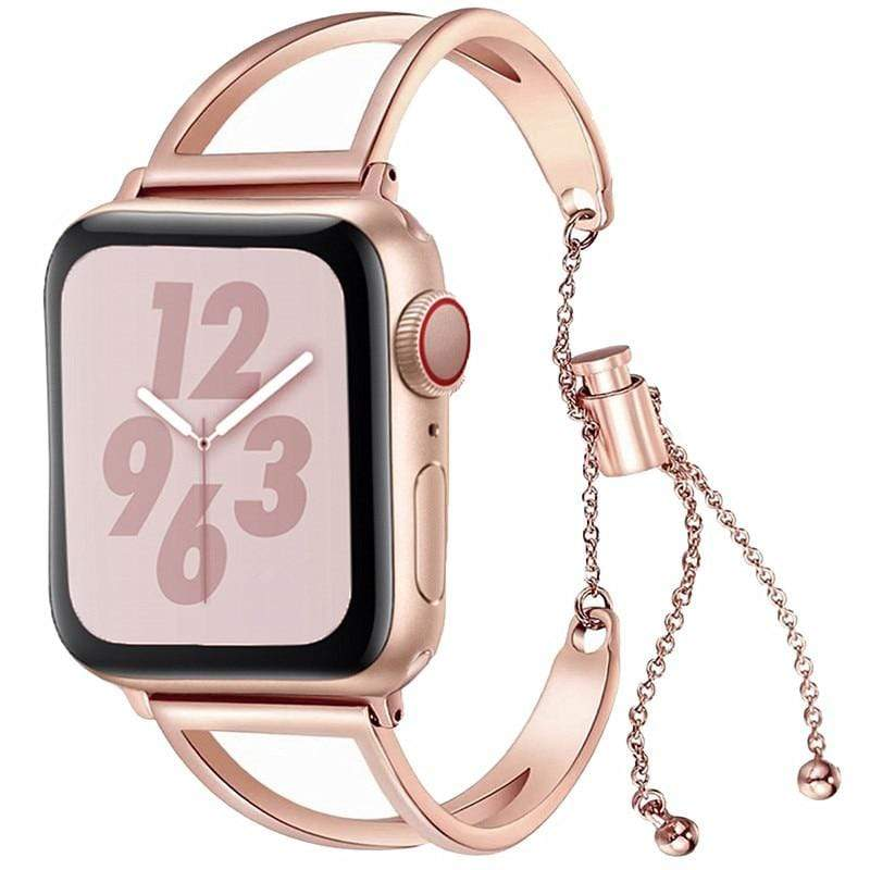 Rose Gold Bracelet For Apple Watch For Women - PHONES FASHIONS