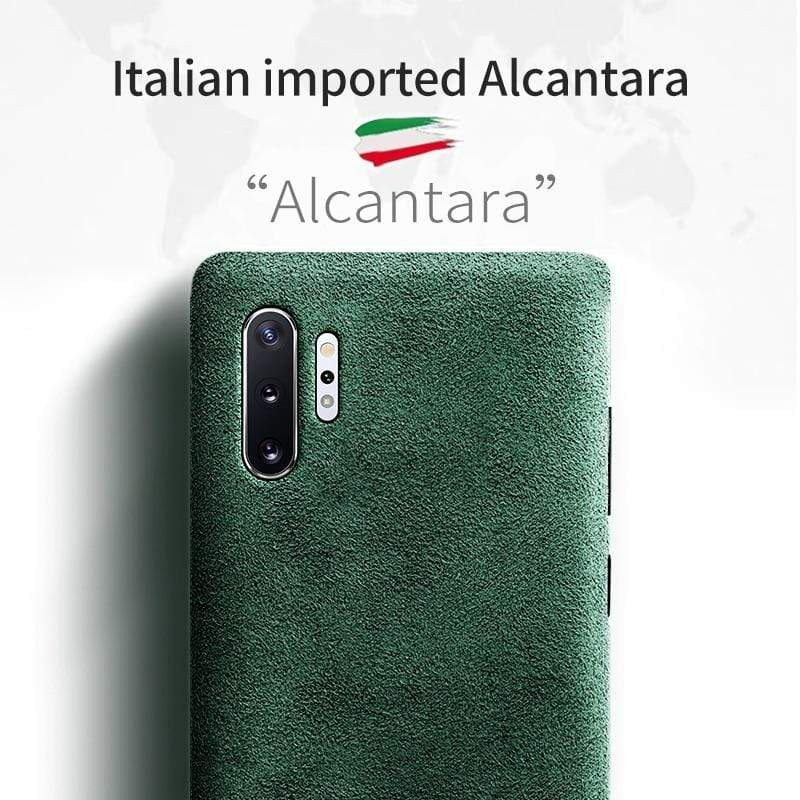 Samsung Note 10 ALCANTARA Case - PHONES FASHIONS