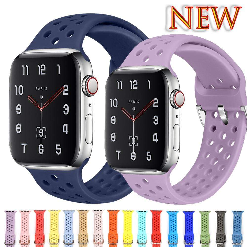 Silicone Sport  strap for Apple Watch - PHONES FASHIONS