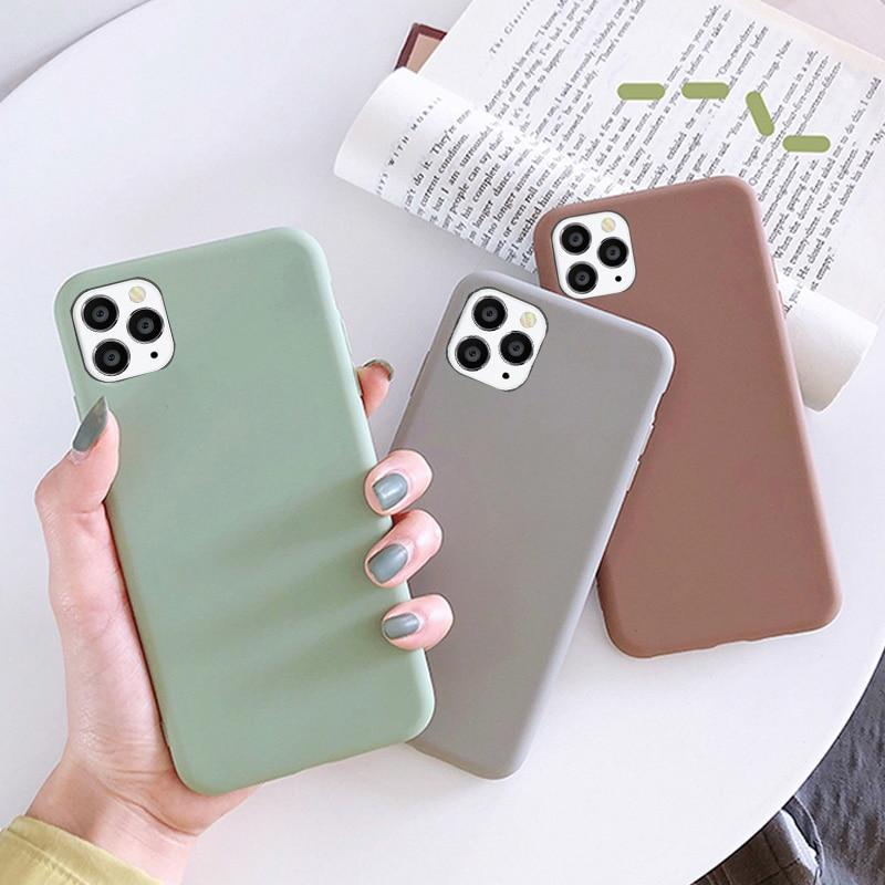 Simple Silicone Soft Back Cover For iPhone - PhonesFashions