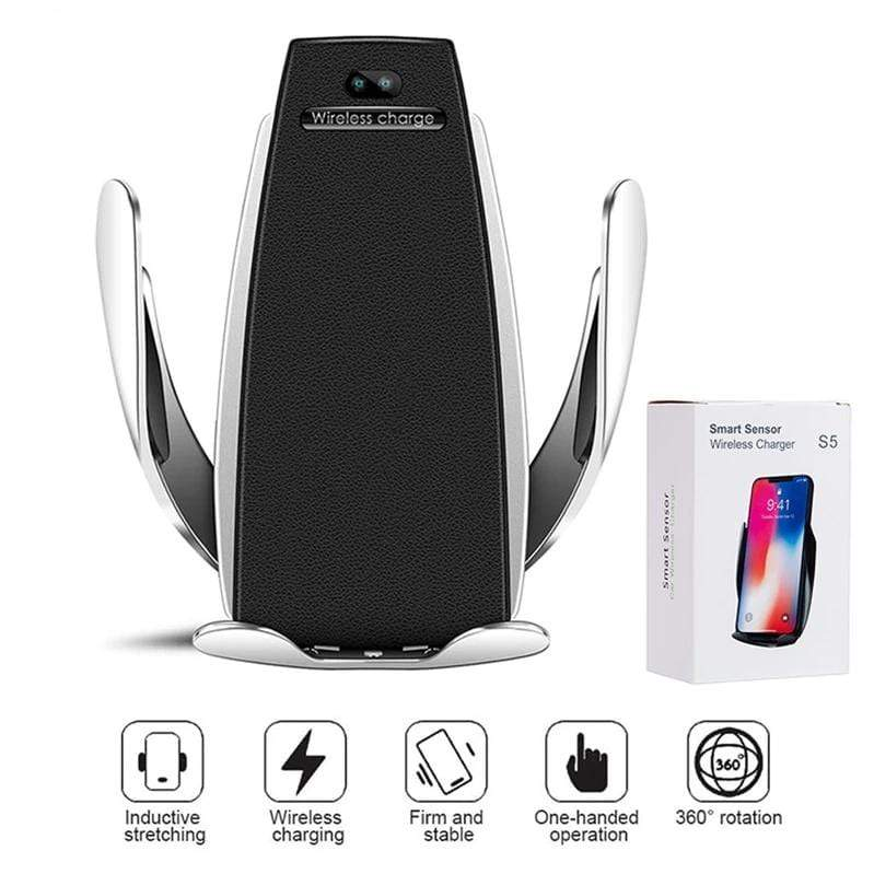 Smart Sensor Car Phone Holder Wireless Charger - PHONES FASHIONS