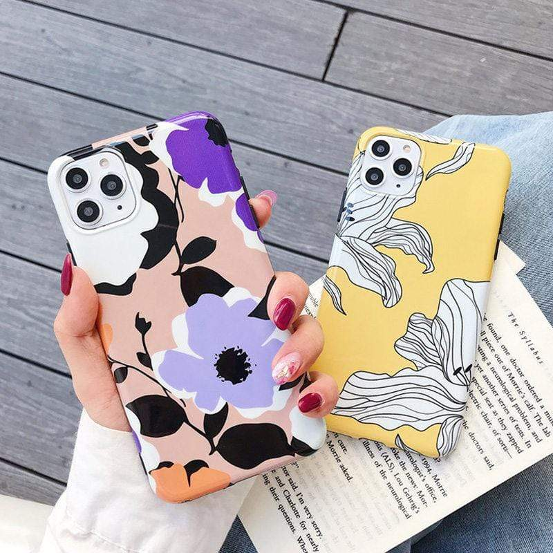 Soft Silicone Flower Case For iPhone 11, Classy & Trendy - PHONES FASHIONS