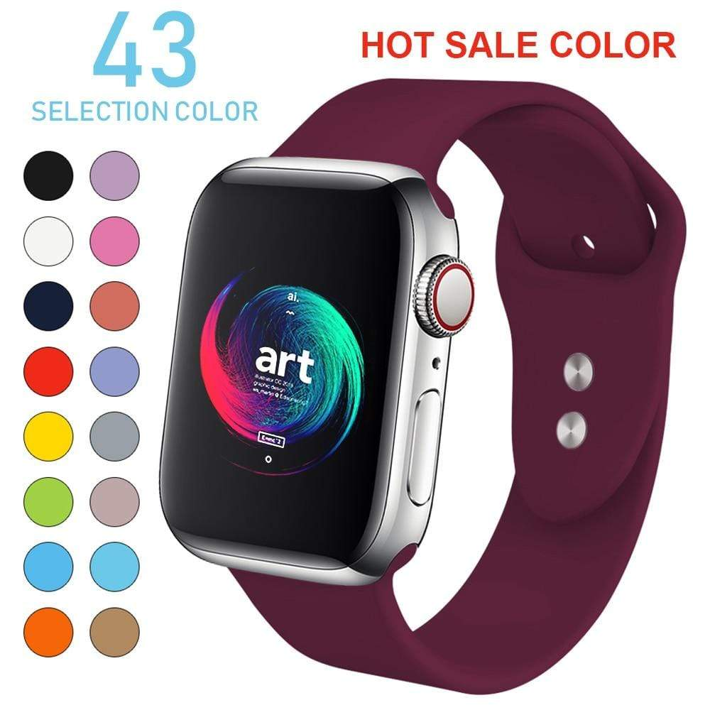 Soft Silicone Sports Band For Apple Watch - PHONES FASHIONS