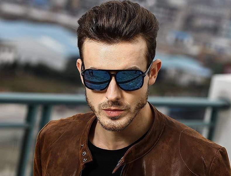 Square Mirror Driving Polarized Sunglasses for Men - PhonesFashions