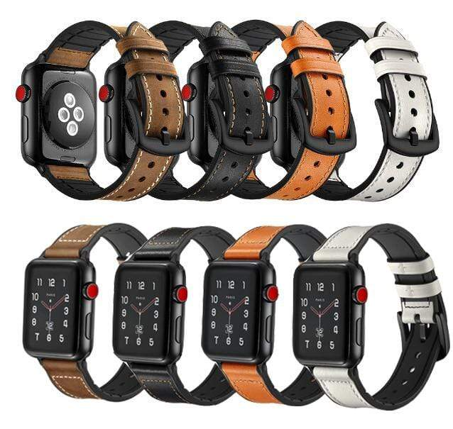 Stylish leather strap For Apple Watch - PhonesFashions
