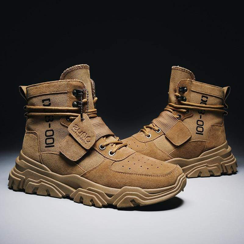 Suede Army Boot Canvas - PhonesFashions