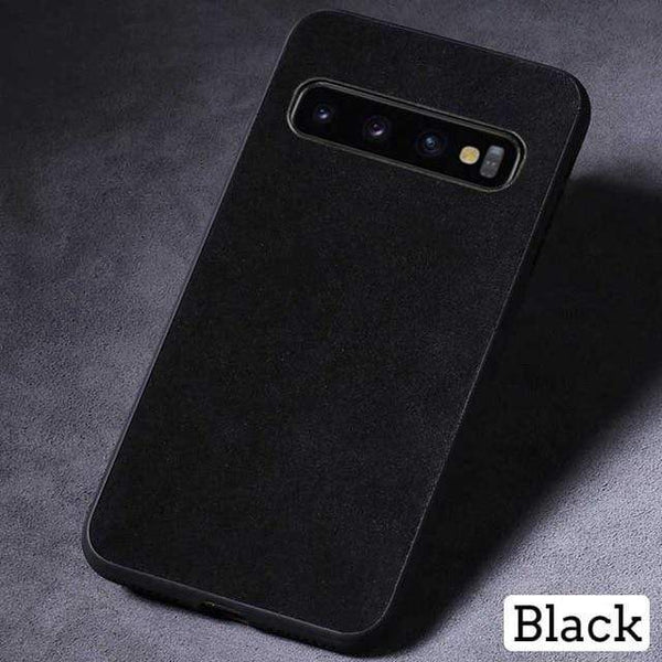 Suede Leather Phone Case For Samsung - PHONES FASHIONS