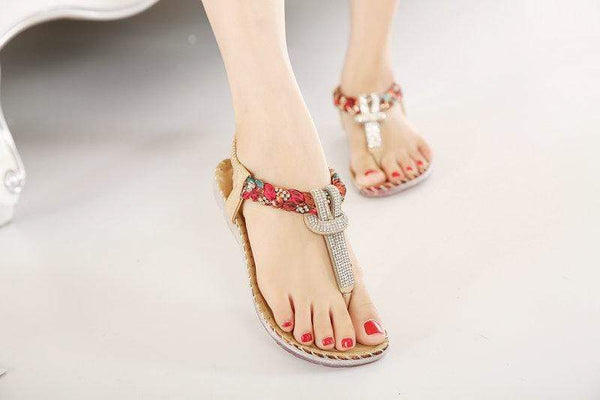 T-strap Flip Flops Thong Summer Sandals for Women - PhonesFashions