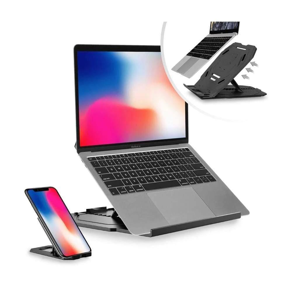 Two-in-one Laptop Cooling Stand, Flexible and Adjustable - PHONES FASHIONS